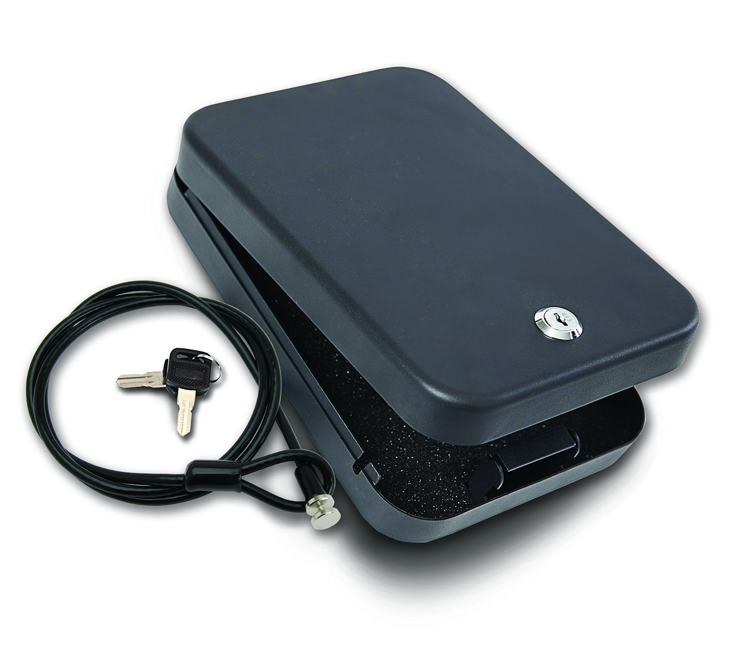image showing the Bestop 42640-01 HighRock 4x4 Under Seat Lock Box for Wrangler JK.
