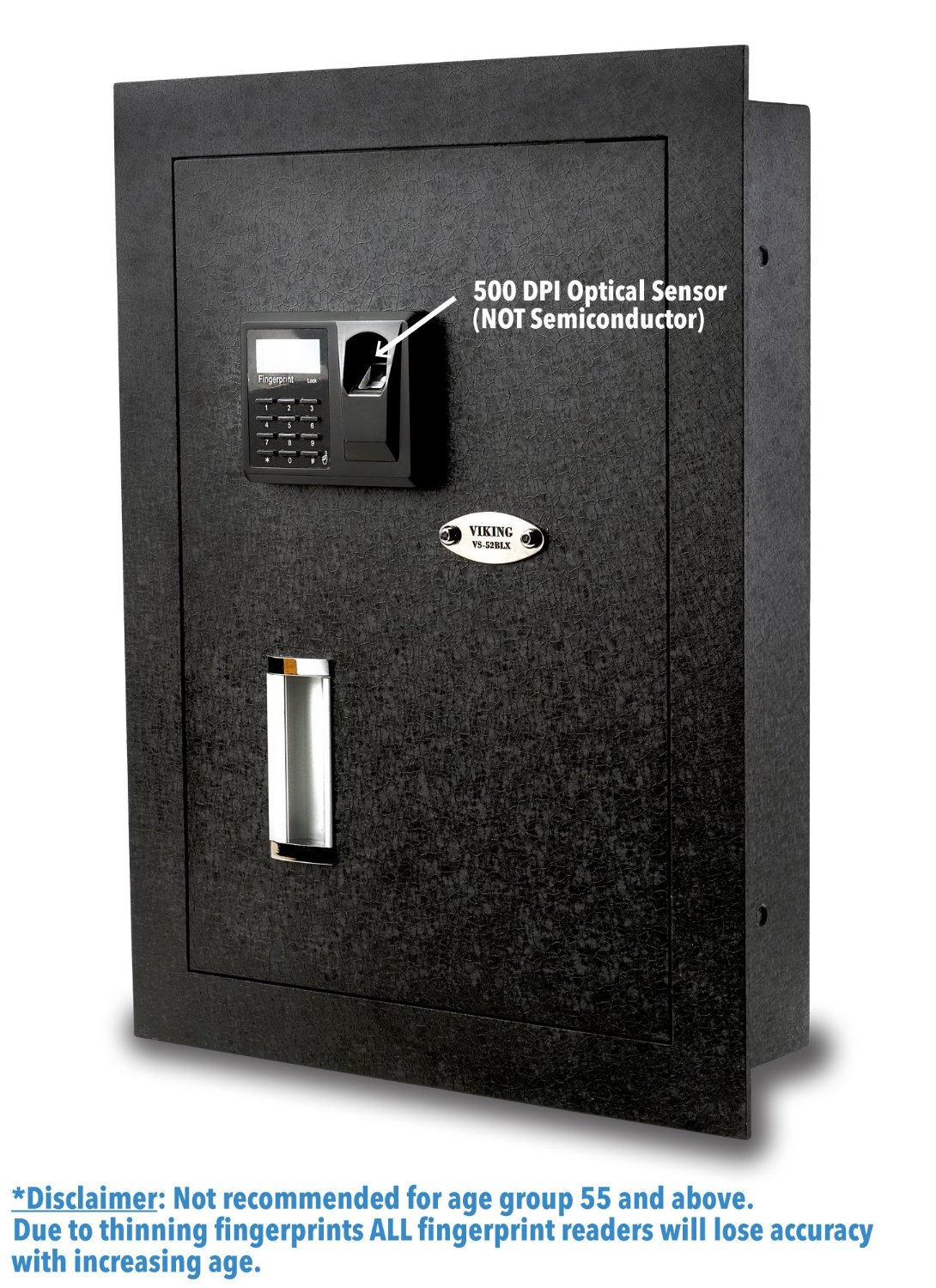 Viking Security Safe VS-52BLX Biometric Fingerprint Hidden Wall Safe seen here. it is one of the 5th best hidden gun safes