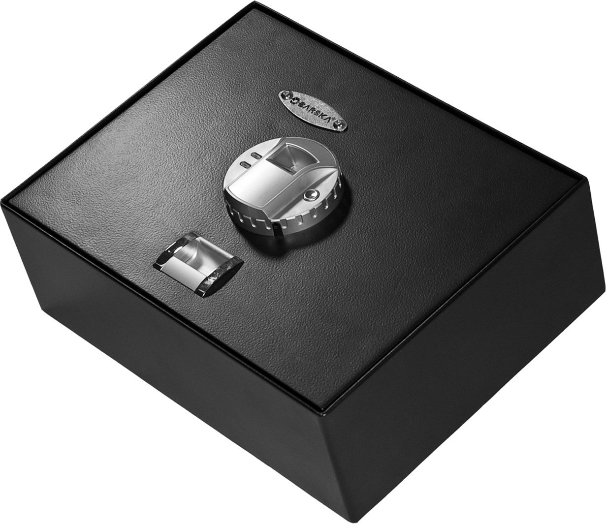 check out the BARSKA Top Opening Biometric Fingerprint Safe in this upclose picture