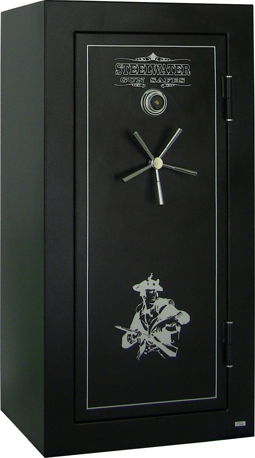 picture of Steelwater Heavy Duty 22 Long Gun Fire Protection for 60 Minutes AMLD593024-blk. our top gun safe in garage model