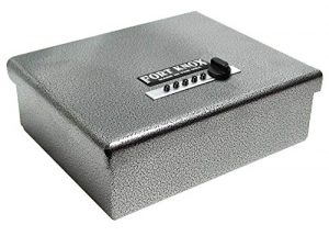 the super strong Fort Knox PB1 Pistol safe is shown here