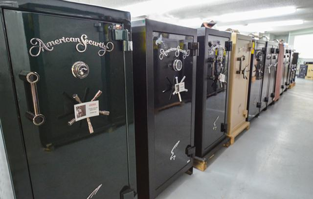 US-made gun safes pictured