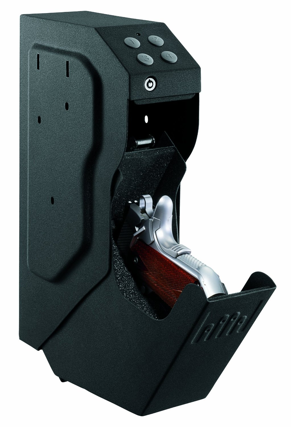 the best low budget gun safe list will be incomplete without the GunVault SV500 SpeedVault Handgun Safe