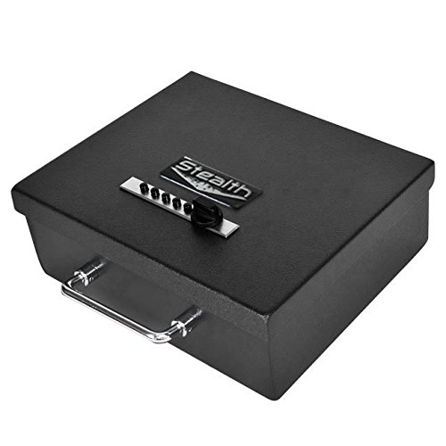 the Stealth Portable Handgun Safe PS1210EZ Pistol Box + Free 13.5-inch Dean Safe Pistol Sock is the best combination lock gun safe