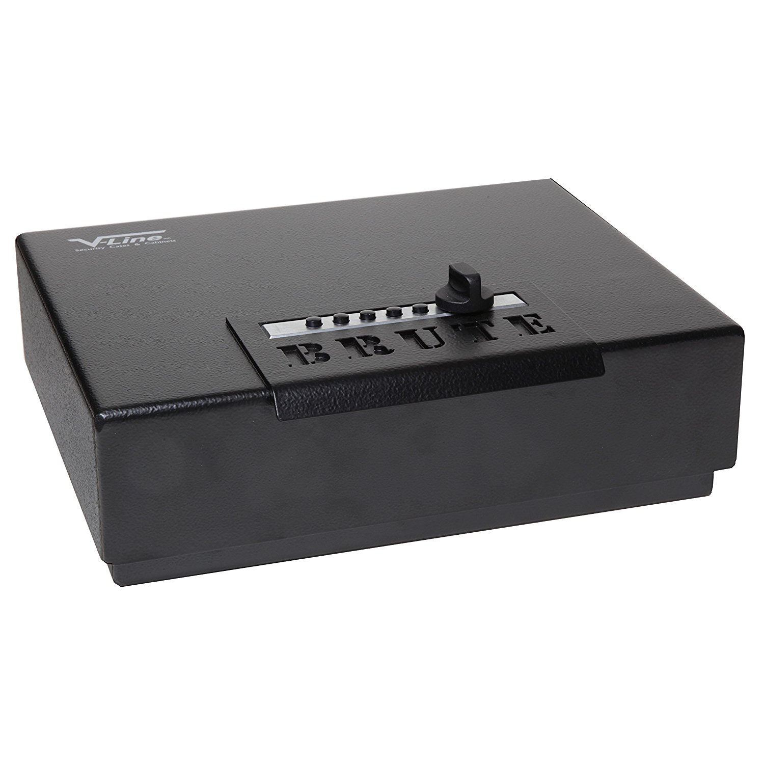the V-Line Brute Heavy Duty Safe with Quick Access Lock, Black shown here is another top combination lock gun safe
