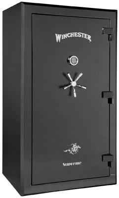 Black colored Winchester gun safe