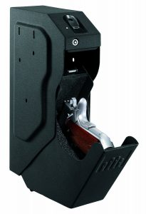 Image of the gunvault SVB 500 which is our number one rated best fingerprint gun safe