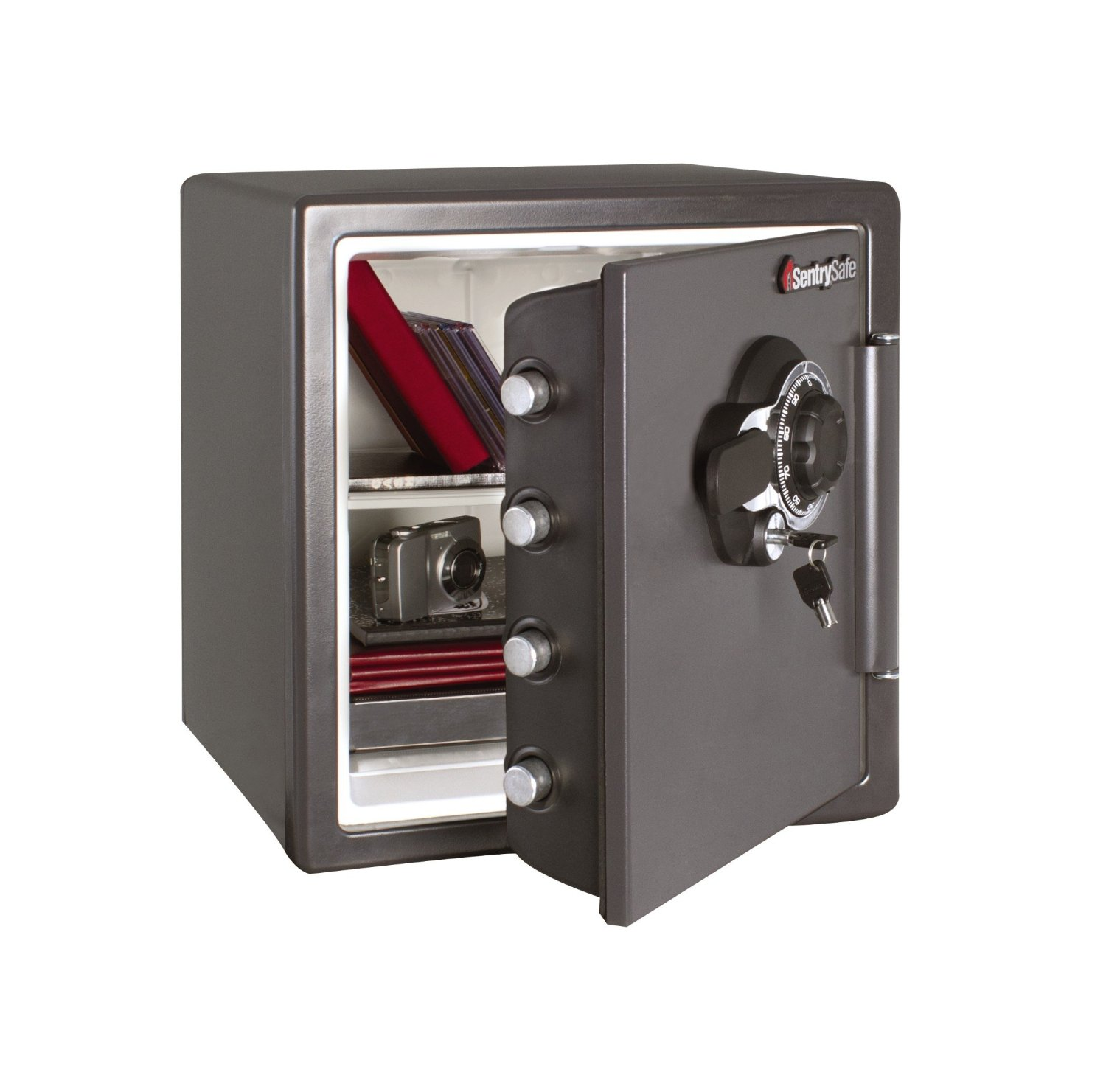 picture of the SentrySafe SFW123DSB. one of the best fireproof gun safe models available for sale today
