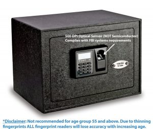 a solid image that shows the Viking Security Safe which is a highly popular biometric pistol safe