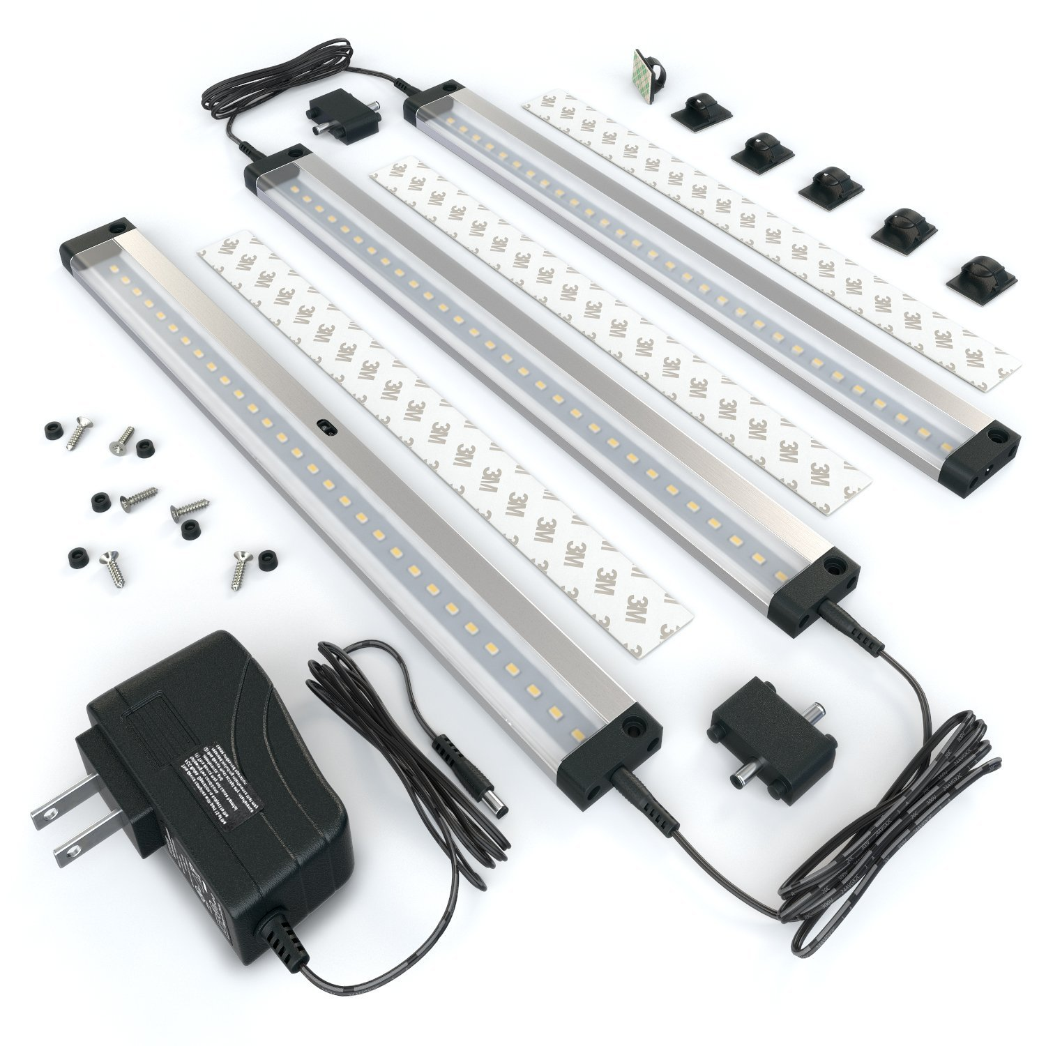 the Eshine 3 Panels LED Under Cabinet Lighting Kit pictured here