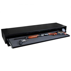 "image of the Stealth Defense Vault DV652 Under Bed Gun Safe + Free 52"" Dean Safe Rifle Sock"