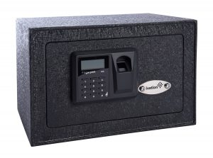 Ivation™ Biometric Fingerprint Home Safe shown here is our top-end compact gun safe pick
