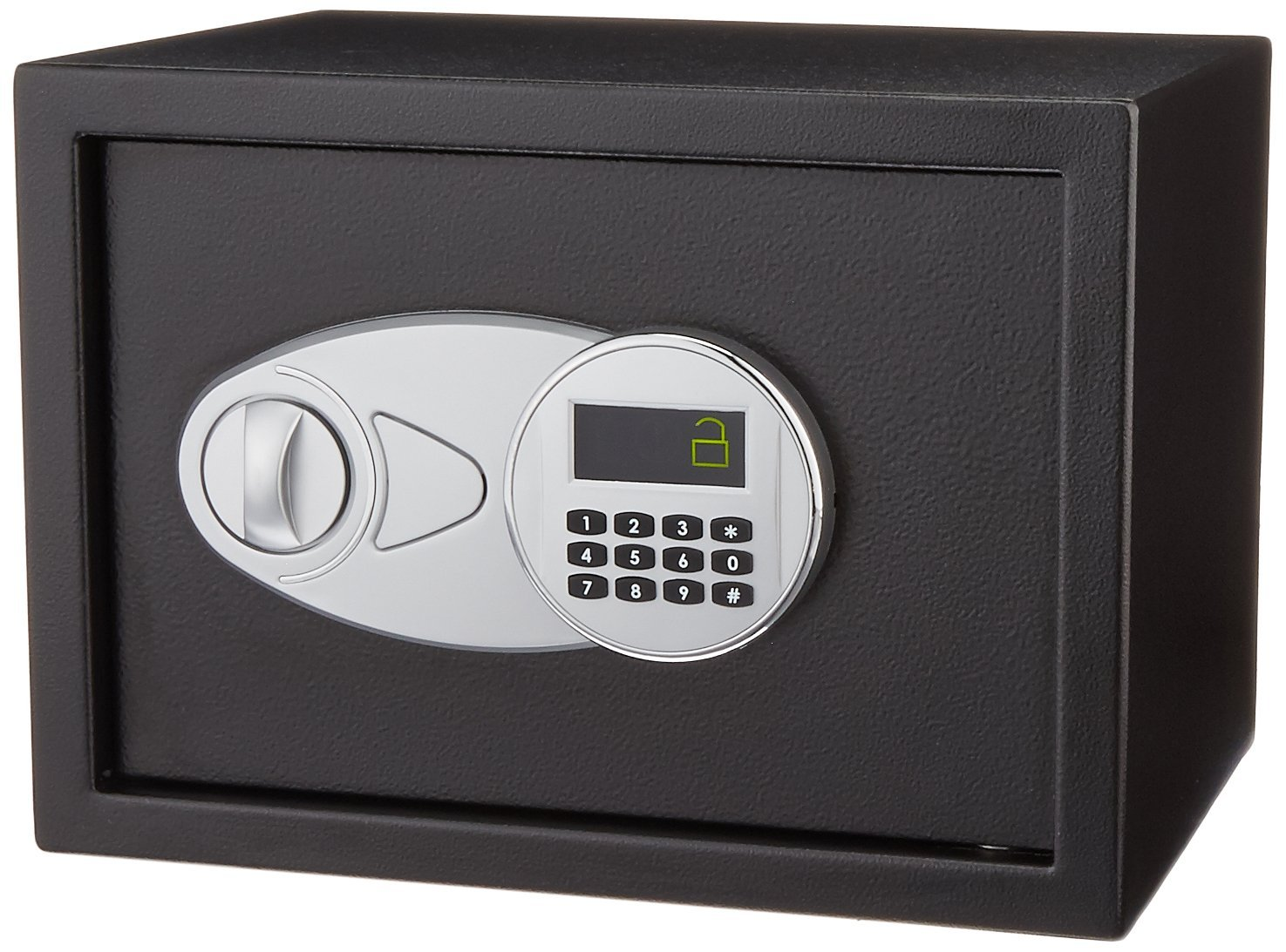 image of the AmazonBasics Security Safe 0.5 Cubic Feet. number one bestselling model online