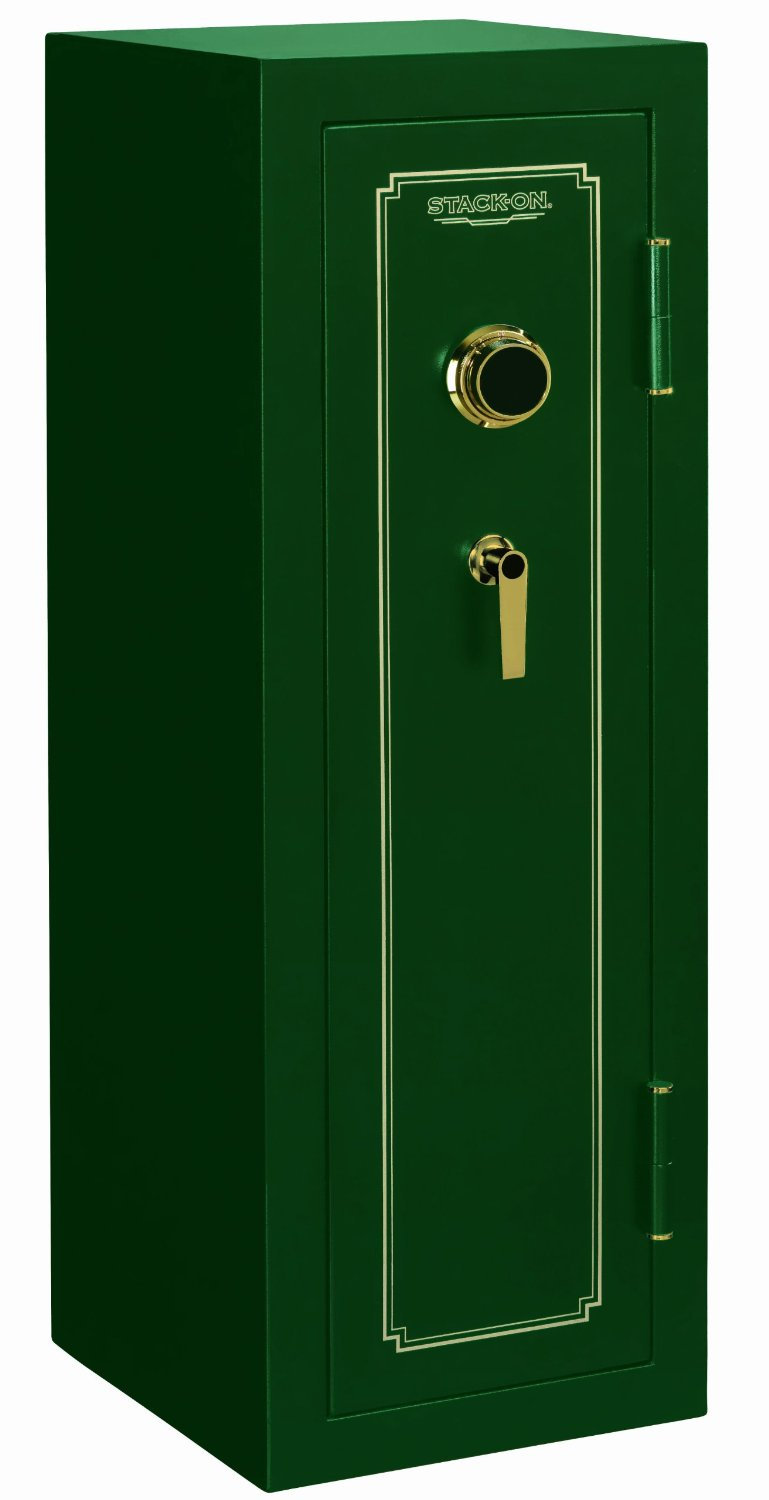 can you spot the hunter green color of the Stack-On FS-14-MG-C 14-Gun Fire Resistant Safe with Combination Lock