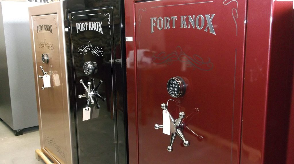 Fort Knox pictured here is a popular gun safes made in USA brand