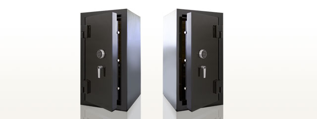 picture showing the difference between right side and left side external gun safe hinge